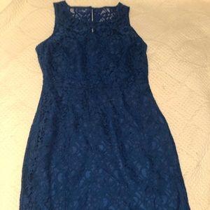JCrew Lace Royal Blue Dress